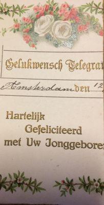 Gelukwens-voor-de-zeemansvrouw-Pieter-verstuurde-dit-telegram-bij-de-geboorte-van-hun-eerste-kind